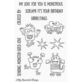 Happymade - My Favorite Things clear stamp set - Monster Sized (CS-262)